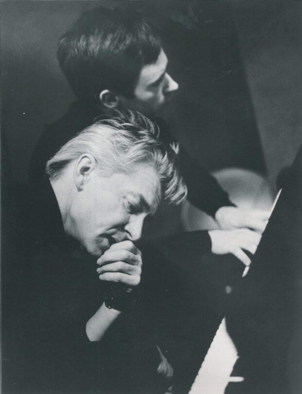 Christoph Eschenbach mit Herbert von Karajan 1966