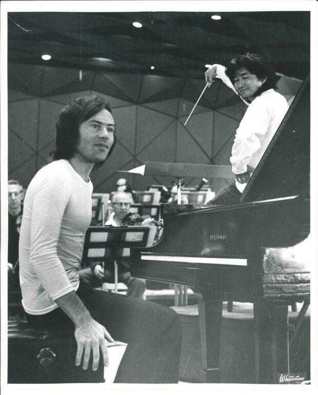Christoph Eschenbach mit Seiji Ozawa in Tanglewood 1972