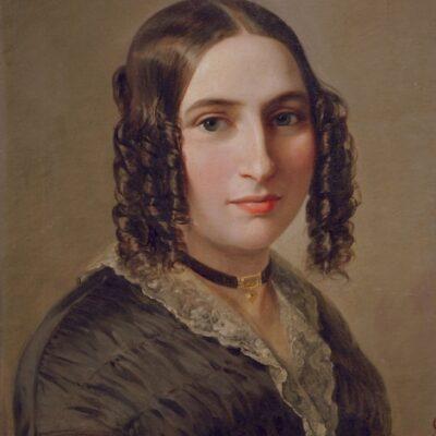 Fanny Hensel. Gemälde von Moritz Daniel Oppenheimer, 1842