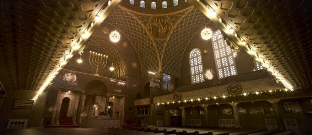 """Herausragendes Beispiel des """"neu-jüdischen"""" Synagogentyps: Synagoge Augsburg"""