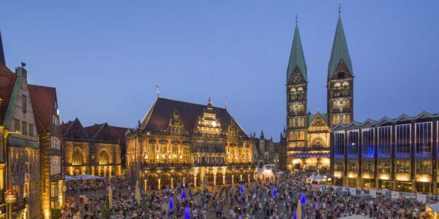 Der Bremer Marktplatz wird zur Bühne