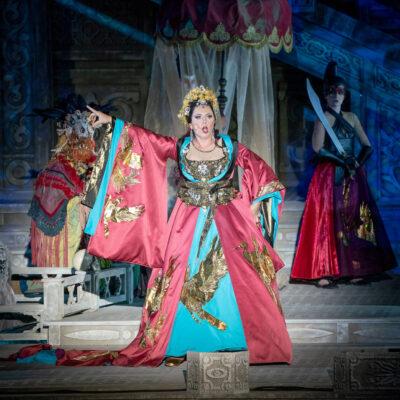 Martina Serafin als Turandot bei der Oper im Steinbruch St. Margarethen.