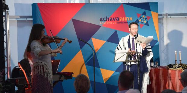 Almuth Heinze und Yoed Sorek bei den Achava Festspielen Thüringen