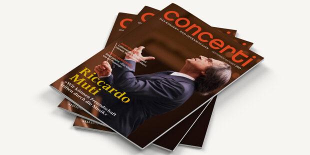 Druckfrisch: die concerti Doppelausgabe für September und Oktober