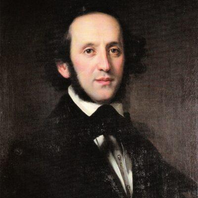 Ölporträt Felix Mendelssohns, gemalt 1846 von Eduard Magnus