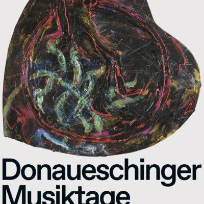 Künstlerplakat zu den Donaueschinger Musiktagen 2021 von Jutta Koether